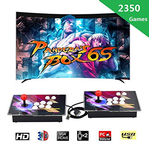 Haberman Arcade Game Console 1080P, 3D & 2D Games 2350 in 1, 2 Players Arcade Game Machine with Arcade Joystick for Home, Support Expand 10000+ Games (Console×2) by Haberman (Image #6)