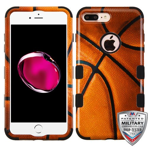 for iPhone 7/8 Plus Basketball-Sports/Black TUFF Hybrid Phone Protector Cover