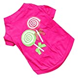 Puppy Clothes,Haoricu Summer Pink Princess Lollipop Vest T-Shirts Apparel (M)