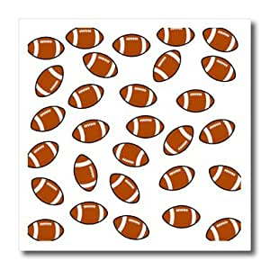 ht_180322_3 Florene - Sports - Image of footballs in a repeat toss pattern - Iron on Heat Transfers - 10x10 Iron on Heat Transfer for White Material