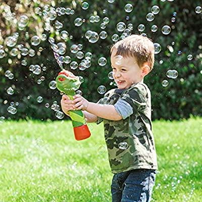 Sunny Days Entertainment Maxx Bubbles Dinosaur Bubble Wand – Light Up Bubble Blower Toy with Sounds | Outdoor Summer Fun for Kids | Party Favor and Great Gift (320108): Toys & Games