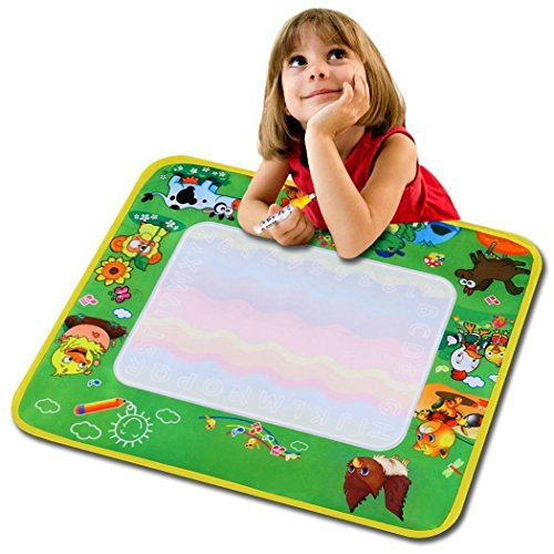 Kecooi Children Kids Water Painting Drawing Writing Mat Cartoon Doodle Toy wih Pen (US (Stock Writing)