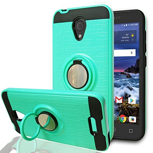 YmhxcY Alcatel 5044R Cell Phone Cases,Alcatel IdealXCITE/Alcatel  CameoX/Verso/Ideal Exite Phone Case,360 Degree Rotating Ring & Bracket Dual  Layer