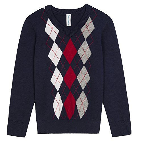 Benito & Benita Boys' Pullover Sweater Uniforms With Argyle Patterns 3-12Y  ()