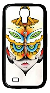 Butterfly Anchor Face Custom Samsung Galaxy I9500/Samsung Galaxy S4 Case Cover Polycarbonate Black