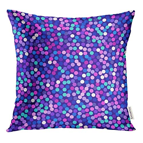 HFYZT Purple Pink Violet for Vedding Sale Sparkling Sapphire VIP Cover Standard Throw Pillowcase 18X18 Inch