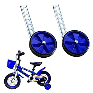 Children's Bicycle 20 Inch Adjustable Training Wheels, Kids Bike Stabiliser Suitable for Bikes Wheel (Blue)