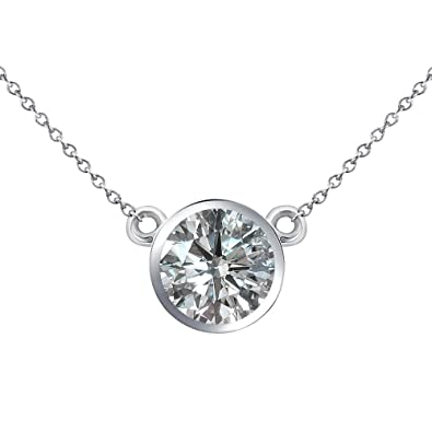 0c3e59107f442 Amazon.com: 0.25 Carat G-H Natural Diamond Bezel Setting Solitaire ...
