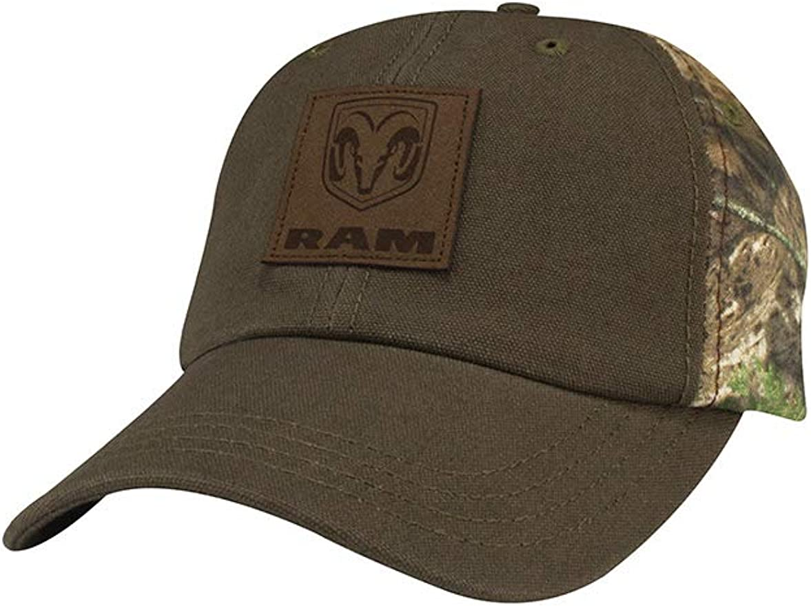 Dodge Ram American Flag Mesh Camo Hat Brown