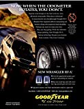 """*ORIGINAL PRINT AD* 1998 GOODYEAR WRANGLER RF-A TIRES with FORD SUV """" Now When the Odometer Rotates..."""" VINTAGE COLOR AD - USA - WONDERFUL !! (CHV)"""