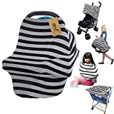 iZiv Ultrasoft 4-in-1 Multi-use Baby Stretchy Cover Car Seat Canopy/Nursing Cover/Shopping Cart Cover/Infinity Scarf Perfect Gift for Baby (Color-6)