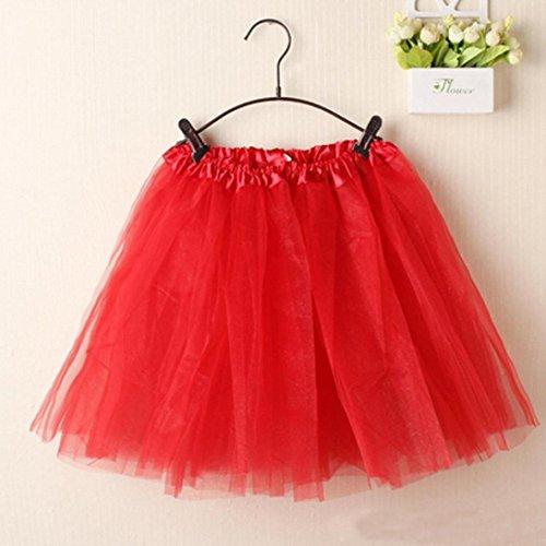 Mini Jupe Kingwo Femmes Rouge Tutu Dentelle dentelle jupe Ballet Couch Organza ZZr1W4np8
