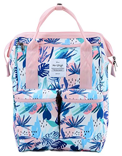 HotStyle DISA Mochila Tropical Bolsas Mujer para Notebook 14-inch (44x27x17cm) - Flamencos tropicales D193A, Rosa