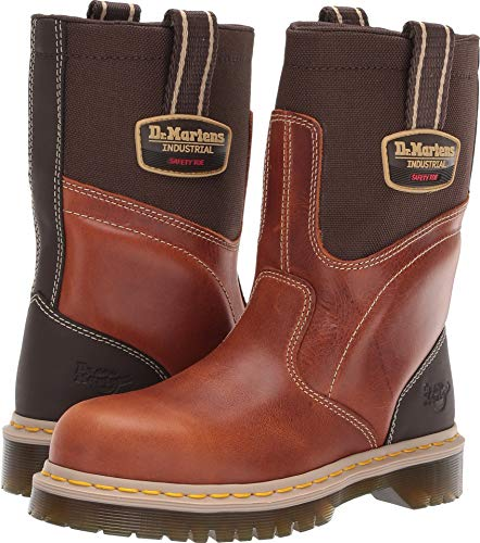 Dr. Martens Women's Howk Electrical Hazard ST Rigger Boots, Brown Leather, 5 M UK, 7 M US -
