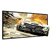 100 inch Projector Screen Outdoor Movie Projection Portable Screens 16:9 Home Theater HD 4K Indoor Office tuscreen (Wrinkle-Free Easy-Installation)