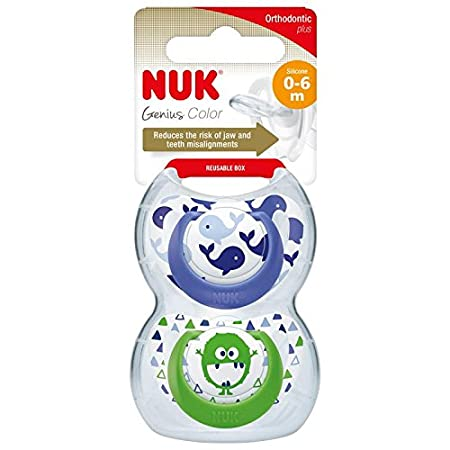 2 PACK Pink Nuk Genius Size 2 Silicone Soother