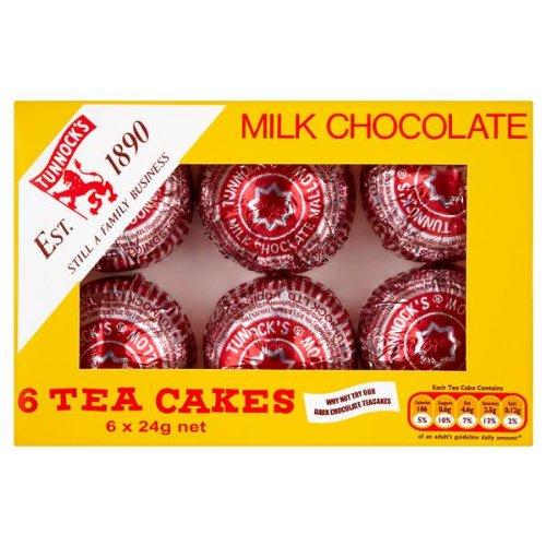 Tunnock Milch Schokolade Tea Cakes 6 x 24g (Packung mit 12 x 6s) Tunnock' s
