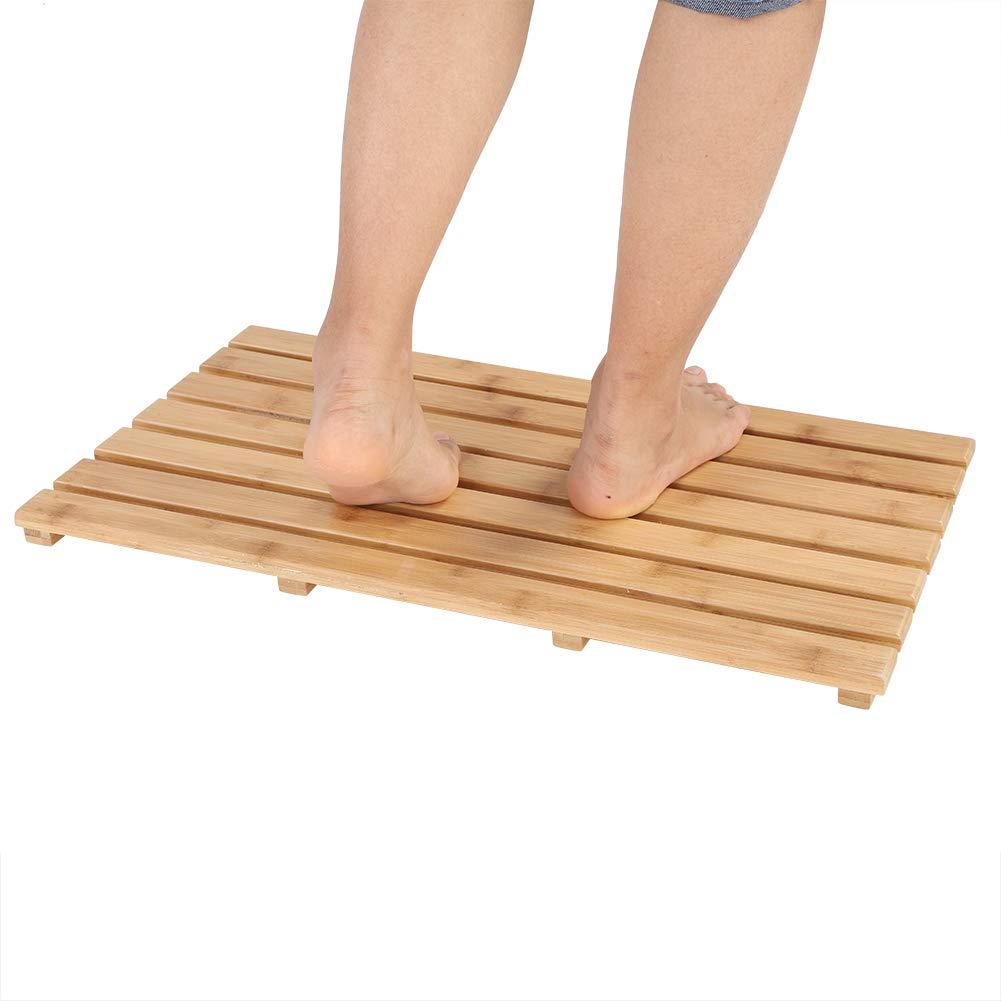60 * 35 * 2.5cm Non-Slip Bathing Shower Mat Zerone Rectangular Bamboo Slatted Duckboard Bamboo Deluxe Rectangular Duckboard Bath Mat