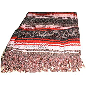 Amazon.com: Large Authentic Handmade Mexican Falsa Blanket