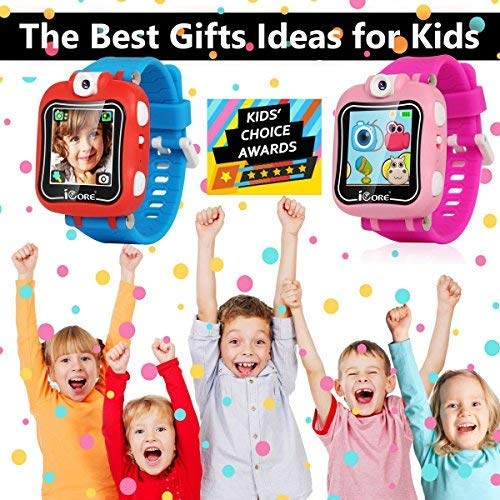 iCore Durable Kids Smartwatch, Electronic Child Smart Watch Video Games, Children Digital Tech Watches, Touch Screen Learning Timer Alarm Clock with Camera for Girls Boys by iCore (Image #6)