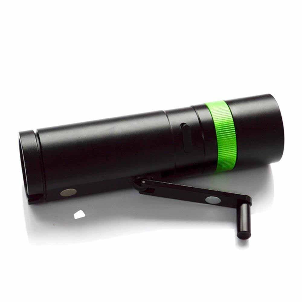 Kaxima LED Aluminium-Hand Starke Licht Taschenlampe Outdoor-Notfall mit Beleuchtung Handkurbel