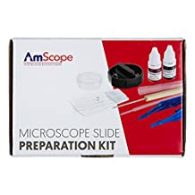 AmScope SP-14 Microscope Slide Preparation Kit Including Stains