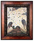 ''Calla Lily Vendor'' by Diego Rivera (12'' X 16'') Poster Framed Hand Texturized With Artist's Gel for an Oil-Like Finish