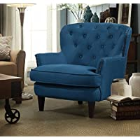 Argo Furniture Collingdale Wood Frame Armchair, Blue