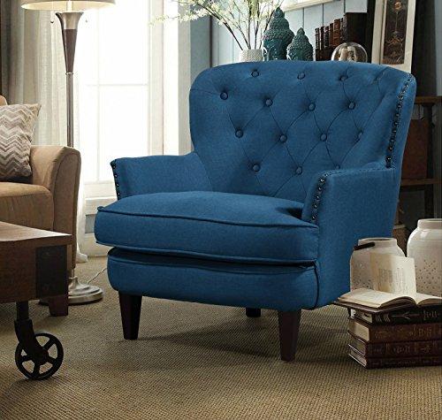 Argo Furniture Collingdale Wood Frame Armchair, Blue