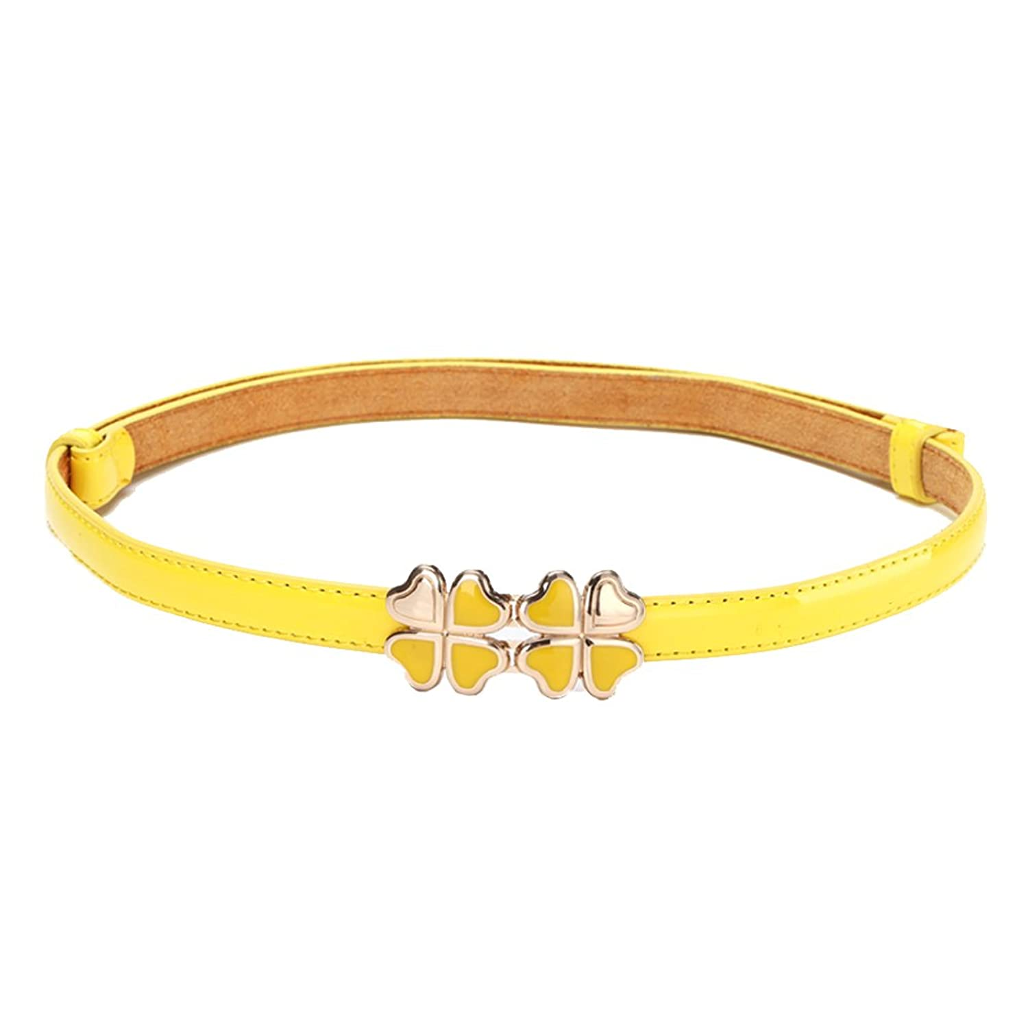 """Womens Fashion Four-leaf Clover Candy Color Thin Belt 36.61"""""""