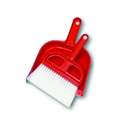 Truvic Cleaning Mini Broom Dustpan Suit Small Broom Dustpan Set/Household Table Cleaning Brush Mini Desktop Dust Broom Dustpan Computer Keyboard Dusting Brush