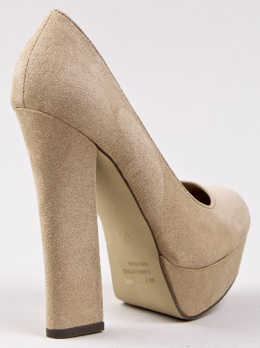Amazon.com | Breckelle's AMBERLY-01 Chunky Heel Platform Pump | Pumps