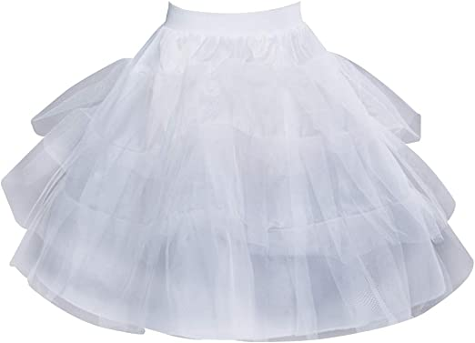 SimpleLife Falda de tutú de Enagua Corta Nupcial Falda Interior ...