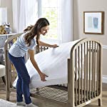 Sealy-Cool-Comfort-Fitted-Hypoallergenic-Toddler-Baby-Crib-Mattress-PadProtector-100-Waterproof-Layer-White-52-x-28