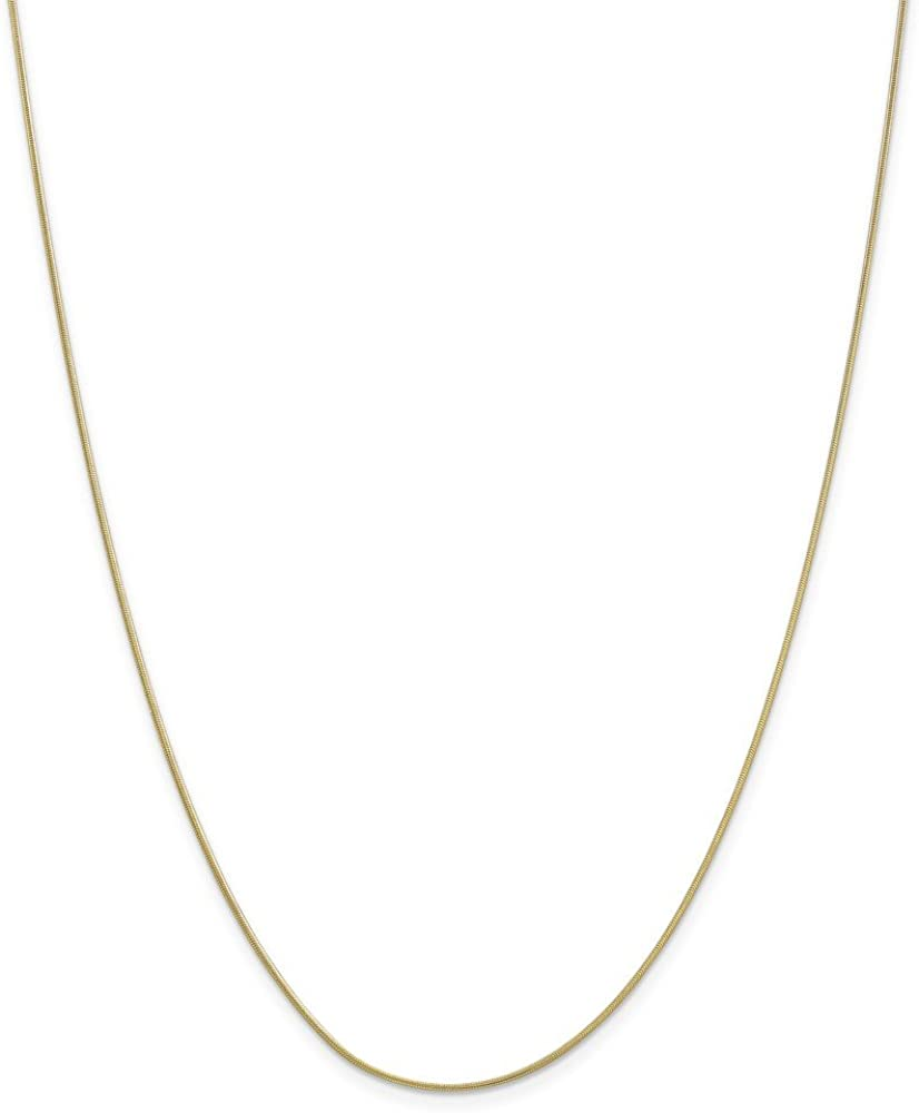 10K Yellow Gold 0.90mm Box Chain Necklace 16inch Fine Jewelry Ideal Gifts For Women