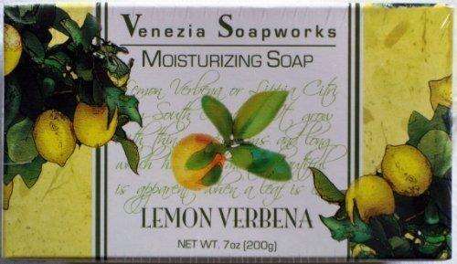 Lemon Verbena Moisturizing (2 Bar Set Venezia Soapworks Moisturizing Soap Lemon Verbena - 7 Ounces Each)