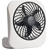 O2COOL 5 Energy Efficient Battery Operated Portable Fan in WHITE/GREY Color Suitable For Your Home, Office & Shop