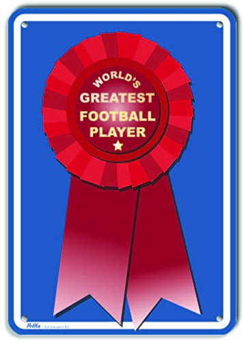7 x 10 PetKa Signs and Graphics PKWG-0087-NA/_Worlds Greatest Football Player Aluminum Sign Worlds Greatest Red