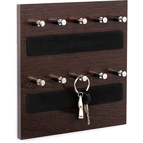 Bluewud Skywood Wall Mounted Key Chain Hanging Board / Box (Wenge, 10 Keys)