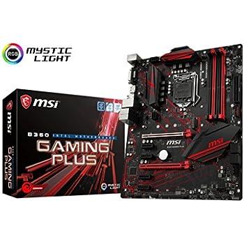 MSI Performance Gaming Intel Coffee Lake B360 LGA 1151 DDR4 Onboard Graphics CFX ATX Motherboard (B360 Gaming Plus)