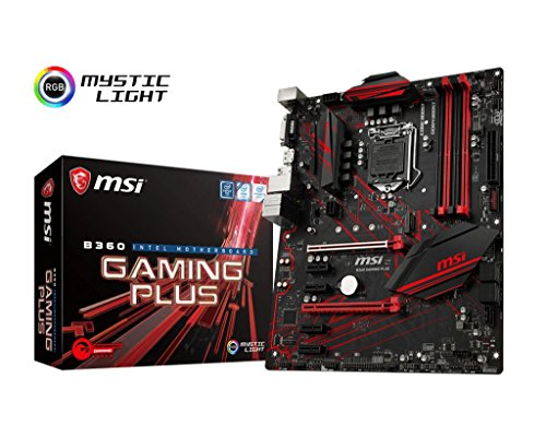 MSI Performance Gaming Intel Coffee Lake B360 LGA 1151 DDR4 Onboard Graphics CFX ATX Motherboard (B360 Gaming Plus) (Best I7 7700k Motherboard)