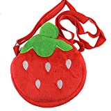 Eonkoo New Cute Red Strawberry Plush Backpack school Book Bag Shoulder for Baby Girl...