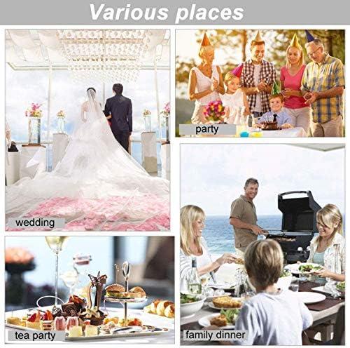 Edelstahl Eiszange Candy Bar Eiswürfel Zange für Candy Salat Spaghetti Servierzange für Hochzeit Party Bar Buffet Grill Picknick silberfarben