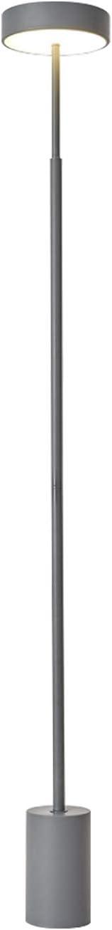 12VMonster Minimalist Modern Floor Lamp - Grey Lamp Shade with LED Light - 8-inch Tall Floor Lamp - Corner Standing Lamp - Urban Office Lamp - Industrial Home Decor - Bedroom Floor Lamp Reading Light
