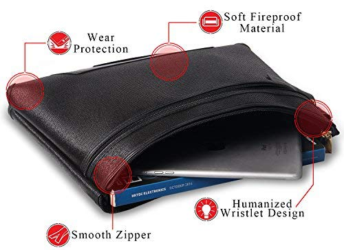 NUDO Fireproof Safe Bag, Portable Handbag Fireproof Bag and Fireproof Safe Storage for Money, Documents, Jewelry and Passport, Waterproof & Fireproof Non-itch Fiberglass (14.5 X 11 inch)