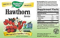 Nature\'s Way Hawthorn Berries , 510 mg., 180  Veg-capsules