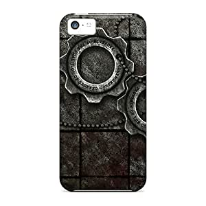 Shockproof Hard Phone Case For Iphone 5c With Unique Design Lifelike Gears Of War Pattern DustinFrench