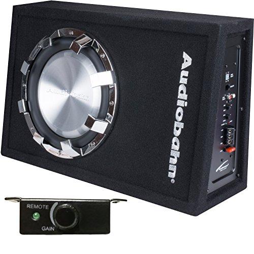 Audiobahn Cajón Amplificado Slim de 10' con Sistema de Bajos