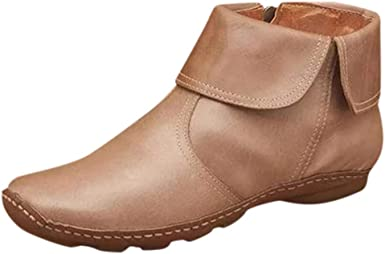 Flat Ankle Boots for Women Western