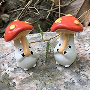 Molinter Mini Decorazione da Giardino a Forma di Fungo Bambola Micro Paesaggio Ornamento in Resina per casa delle Bambole mobili da Giardino Decorazione Giardino 2 Pezzi/Set 2 spesavip
